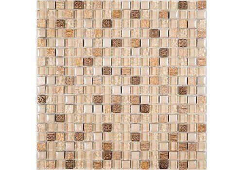 Мозаика камень со стеклом Lavada Beige