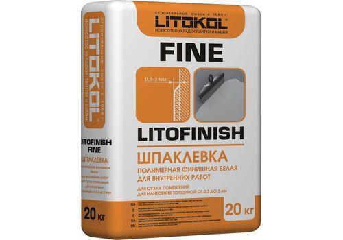 LitoFINISH FINE - шпатлевка финишная супербелая  20 кг
